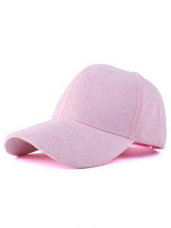 Graffiti Faux Suede Baseball Hat - Pink
