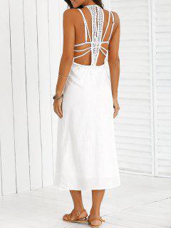 Hundiendo Cuello Vestido De La Playa - Blanco S