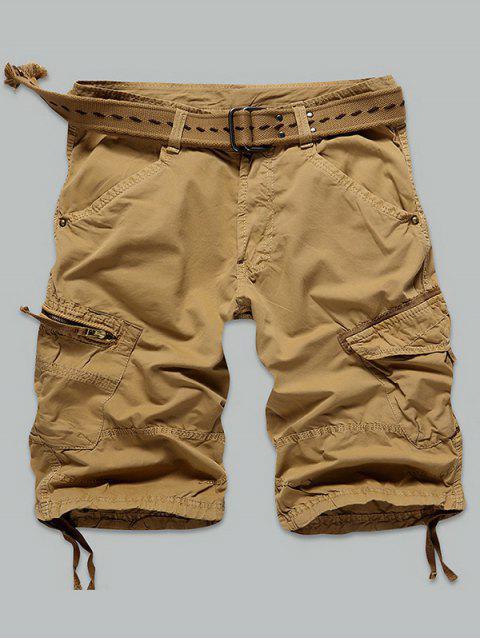 Pocket Rivet zippées genou Shorts cargo - Terreux 32 Mobile