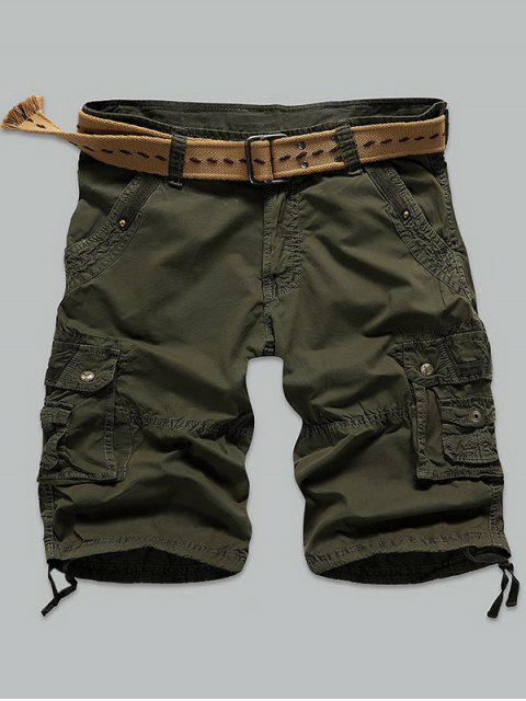 Shorts Rivet Agrémentée Muti point Zipper Fly Cargo - Vert Armée 31 Mobile