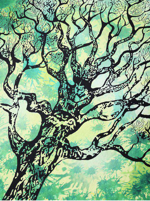 lady Green Tree Rectangle Beach Throw - GREEN M Mobile