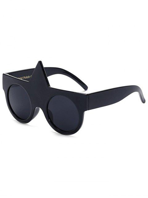 lady Unicorn Round Sunglasses - BLACK  Mobile
