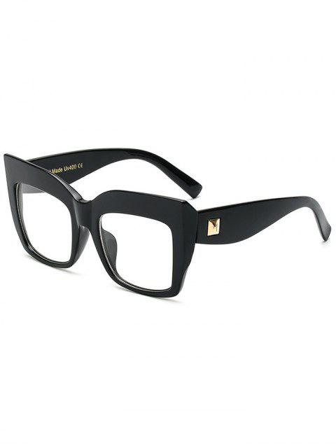 unique Transparent Lens Square Oversized Sunglasses -   Mobile