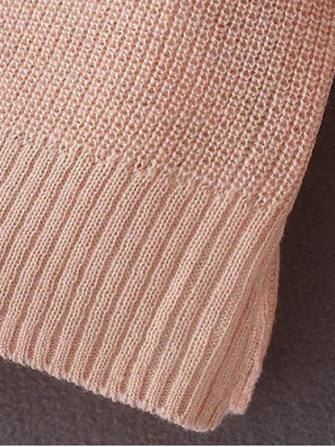 fancy Loose Cold Shoulder Knitwear - BLACK ONE SIZE Mobile