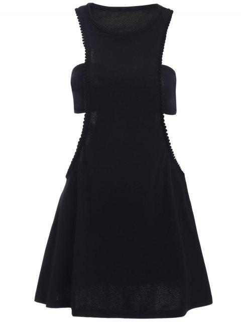 womens Black Cut Out Semi Formal Mini Dress - BLACK XL Mobile