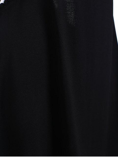ladies Black Cut Out Semi Formal Mini Dress - BLACK S Mobile