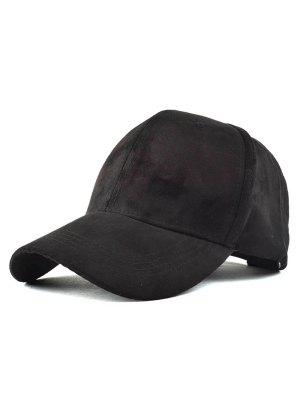 Graffiti Faux Suede Baseball Hat