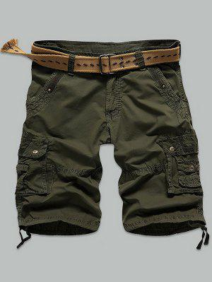 Shorts Rivet Agrémentée Muti point Zipper Fly Cargo