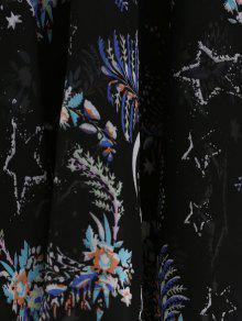 Imprimi Gasa De Vestido S Cuello Floral 243; En La V El Midi De EwEUfSq6