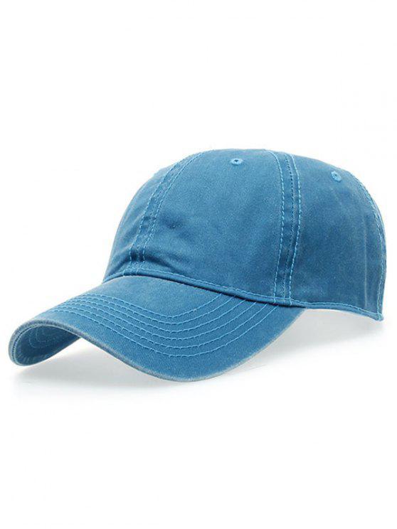 women Water Wash Do Old Baseball Hat - LAKE BLUE