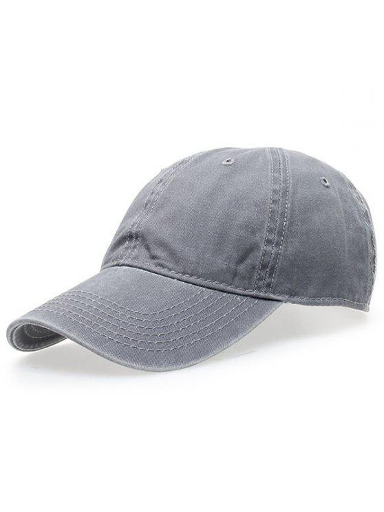 Gorra de Beísbol Desgastada de Lavado - Gris Claro