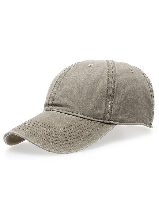 best Water Wash Do Old Baseball Hat - LIGHT KHAKI