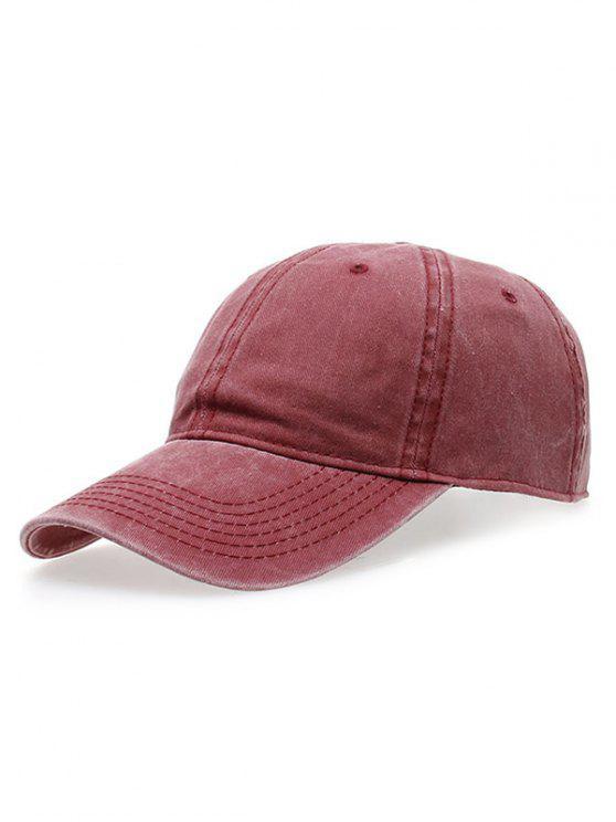 hot Water Wash Do Old Baseball Hat - CLARET