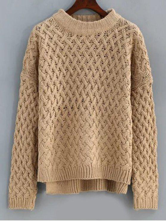 Medio Cuello Alto Bajo suéter - Terroso Única Talla