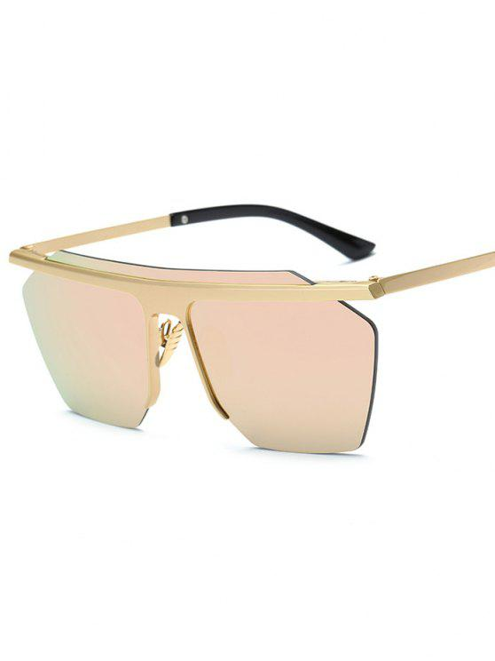 latest Rimless Mirrored Square Sunglasses - PINK