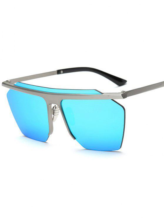 Randlos Mirrored-Platz Sonnenbrillen - Hellblau