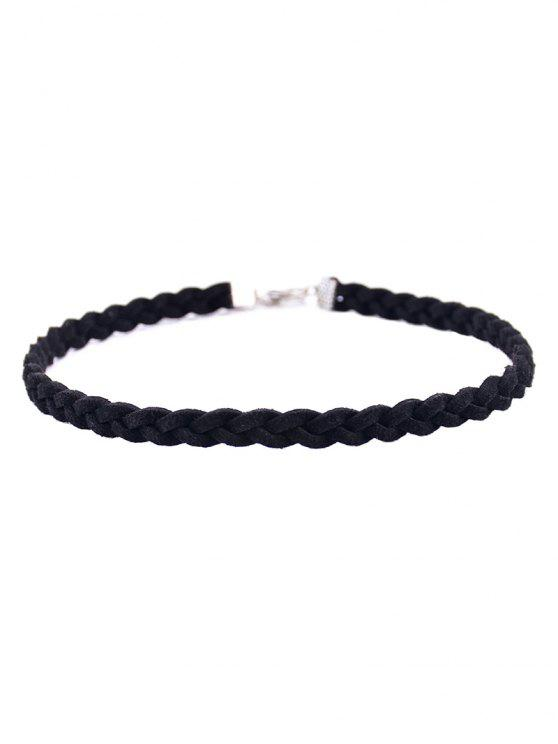outfits Faux Leather Rope Woven Choker - BLACK