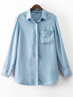 Pocket Denim Shirt - Bleu M