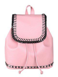 Kordelzug Magnetverschluss Metall Rucksack - Pink