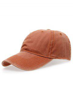 Water Wash Do Old Baseball Hat - Orange
