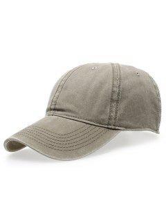 Water Wash Do Old Baseball Hat - Light Khaki