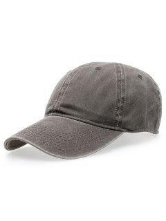 Water Wash Do Old Baseball Hat - Gray