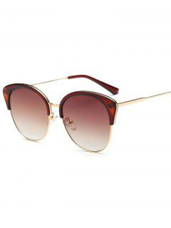 Double Rims Butterfly Sunglasses - Tea-colored