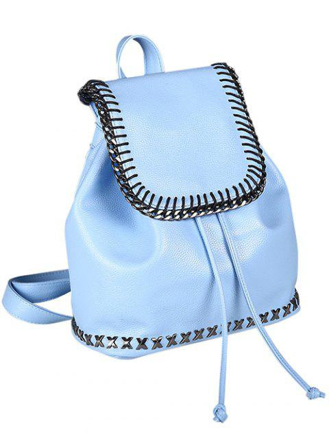 chic String Magnetic Closure Metal Backpack -   Mobile