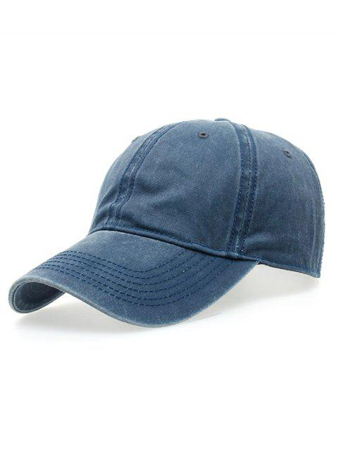 womens Water Wash Do Old Baseball Hat - BLUE  Mobile