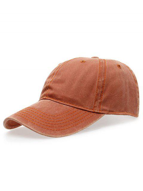 ladies Water Wash Do Old Baseball Hat - ORANGE  Mobile