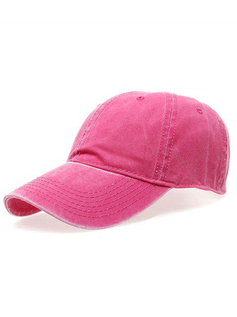 lady Water Wash Do Old Baseball Hat - ROSE RED  Mobile