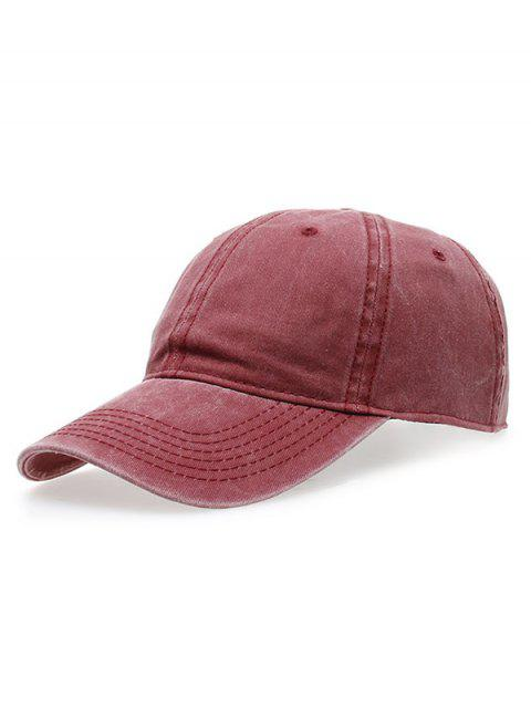 hot Water Wash Do Old Baseball Hat - CLARET  Mobile