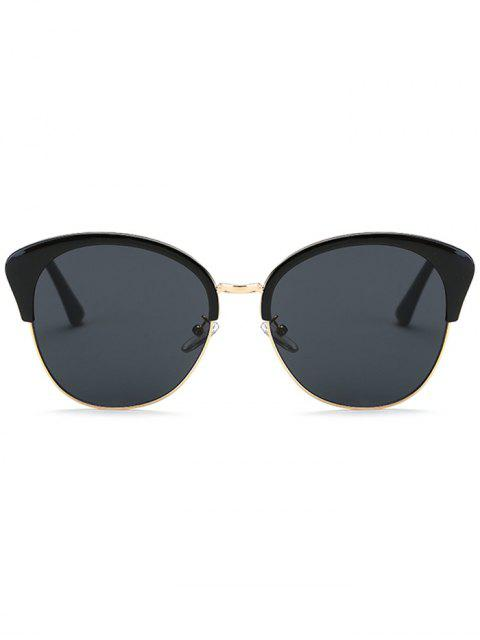 lady Double Rims Butterfly Sunglasses - BLACK  Mobile