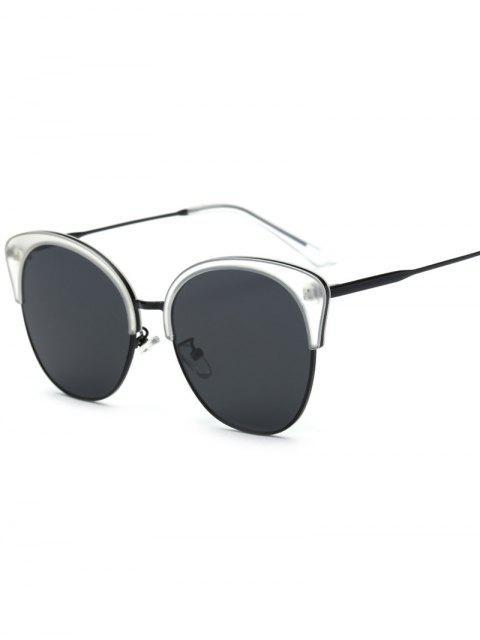 best Double Rims Butterfly Sunglasses - TRANSPARENT  Mobile