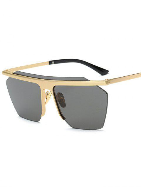 shops Rimless Cut Out Square Sunglasses -   Mobile
