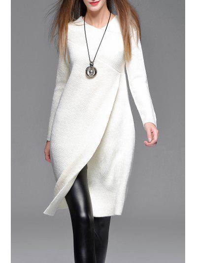 Asymmetric Sweater Dress