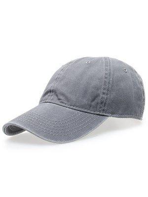 Water Wash Do Old Baseball Hat - Light Gray