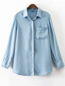 Pocket Denim Shirt - Bleu M