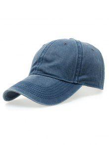 قبعة التنس الكلاسيكية لغسل - أزرق
