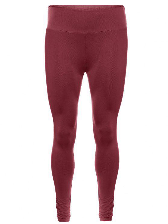 Pantalon collant de yoga élastique grande taille - Brique TAILLE MOYENNE