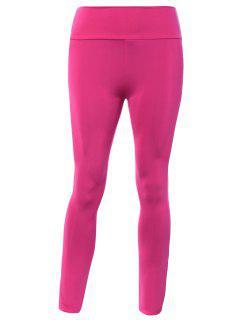Pantalon Collant De Yoga élastique Grande Taille - Rose