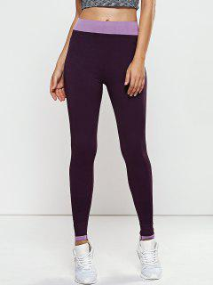 Seamless Leggings - Purple M
