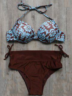 Vintage Floral Push-Up Bikini - M