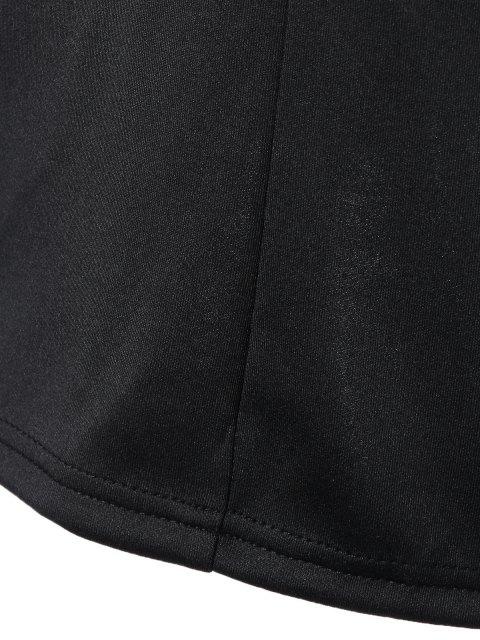 womens V Neck Strappy Shift Dress - BLACK 2XL Mobile
