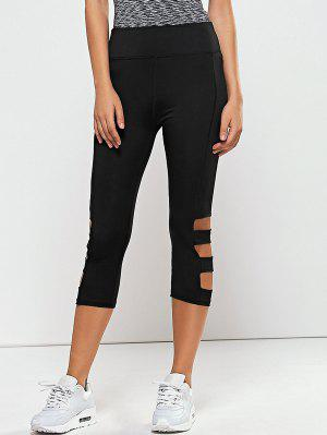 Hollow Out Quick -Dry Gym Capri Workout Pants