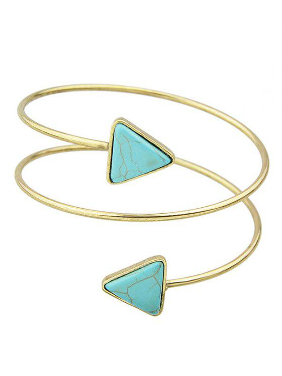 best Triangle Faux Turquoise Arm Chain - GOLDEN