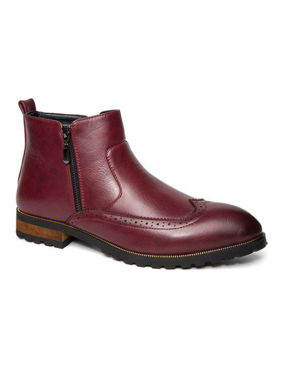 نقش نقطة اصبع القدم سستة الأحذية الجانبية - أحمر 41