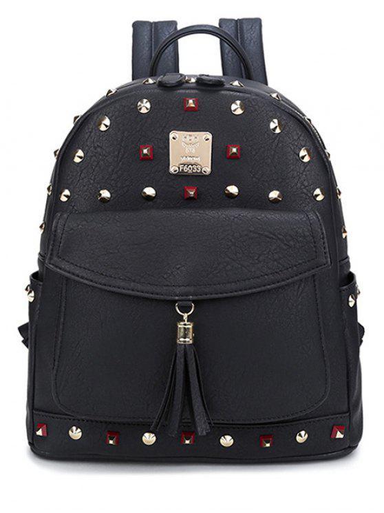 Tassels Magnetic Closure Rivets Backpack