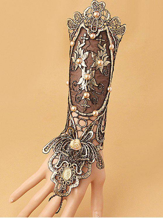 Bracelet Gant à Lacets avec Fausse Perle - Multicolore