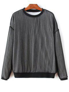La Camiseta De Hacer Punto Flojo - Negro M